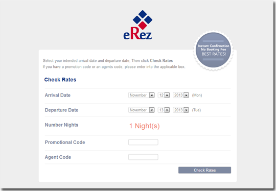 eReZ Internet Booking Engine V5.2 in 2017